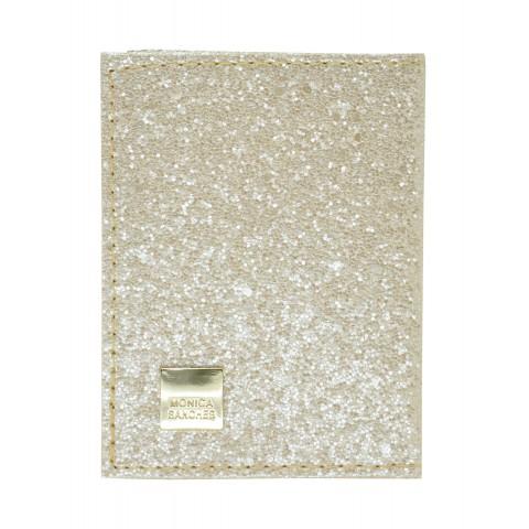 Porta Cartão Feminina Monica Sanches 1231 Glitter Perola