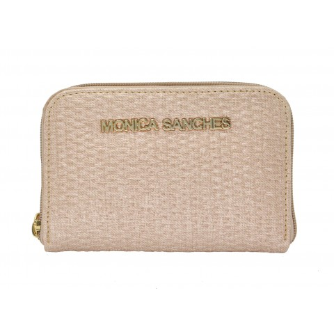 Carteira Feminina Monica Sanches 1265 Wara Creme Metal