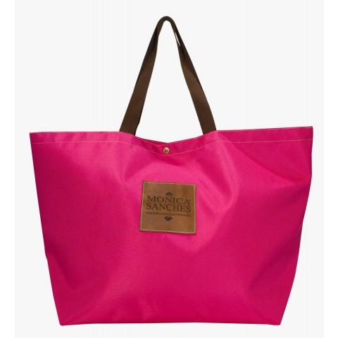 Bolsa Feminina Monica Sanches 1374 Lona 1200 Pink