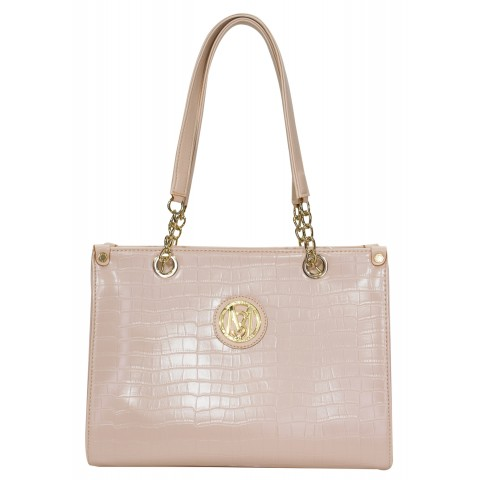 Bolsa Feminina Monica Sanches 2863 Croco Quartz