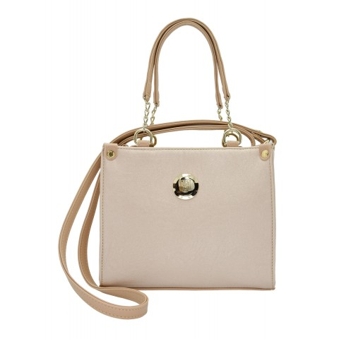 Bolsa Feminina Monica Sanches 2969 Kill Creme Metal