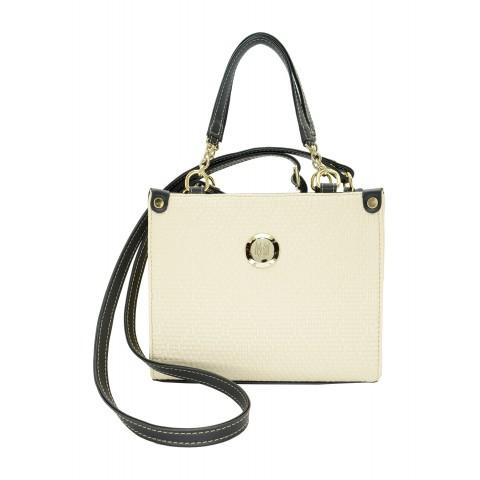 Bolsa Feminina Monica Sanches 2969 Athena Panacota / preto