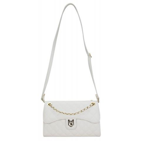 Bolsa Feminina Monica Sanches 3373 Canguru Branco
