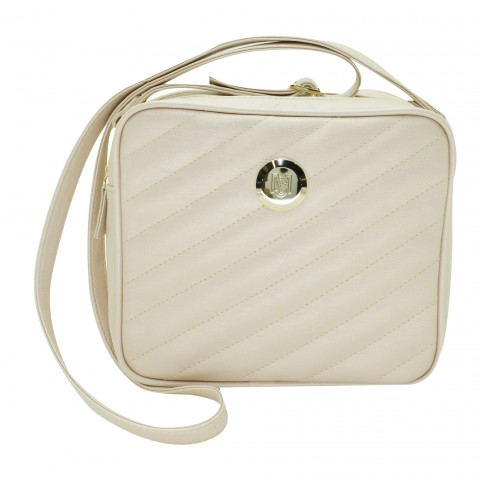 Bolsa Feminina Monica Sanches 3402 Kill Creme Metal