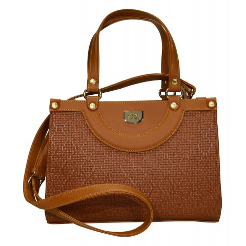 Bolsa Feminina Monica Sanches 3413 Athena Camel
