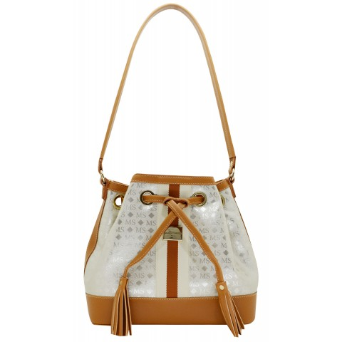 Bolsa Feminina Monica Sanches 3449 Ms Transfer Ouro Light