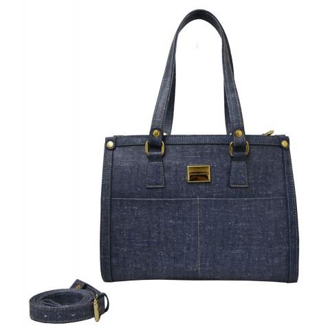 Bolsa Feminina Monica Sanches 3512 Rustic Jeans