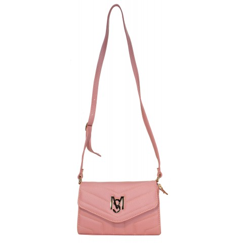 Bolsa Feminina Monica Sanches 3555 Canguru Rose