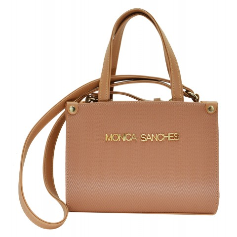 Bolsa Feminina Monica Sanches 3566 Paris Dark Blush