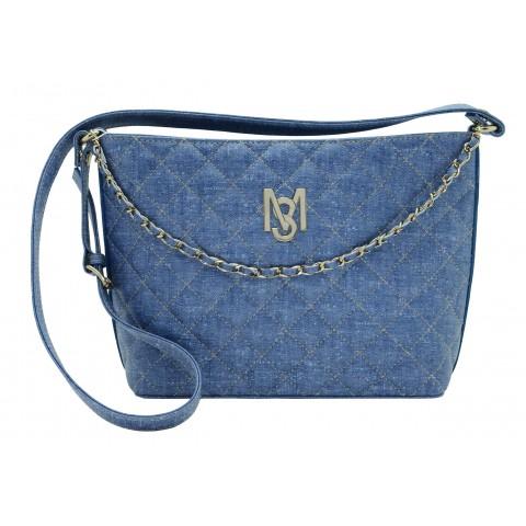 Bolsa Feminina Monica Sanches 3567 Rustic Jeans