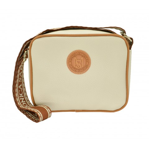 Bolsa Feminina Monica Sanches 3606 Canguru Off White