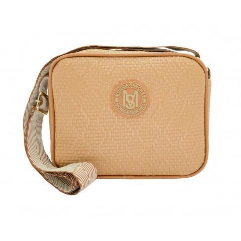 Bolsa Feminina Monica Sanches 3606 Athena Areia / caramelo