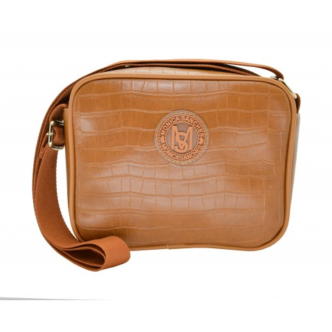 Bolsa Feminina Monica Sanches 3606 San Croco Conhaque