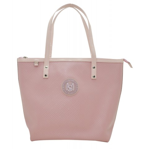 Bolsa Feminina Monica Sanches 3620 Rafia Rose