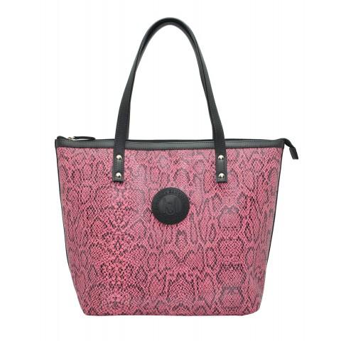 Bolsa Feminina Monica Sanches 3635 Snake Pink