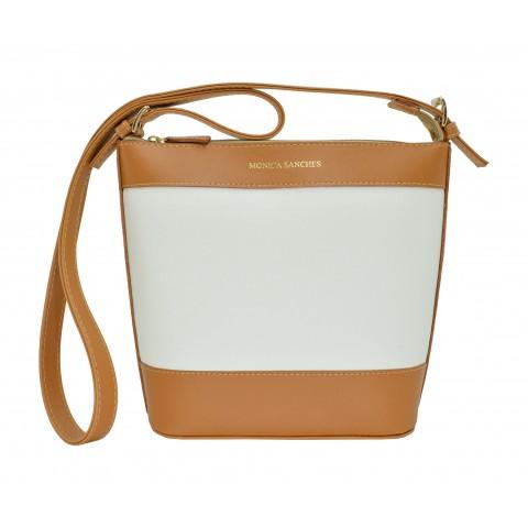 Bolsa Feminina Monica Sanches 3647 Rustic Bianco