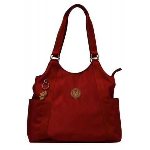 Bolsa Feminina Monica Sanches 5016 Lona 1200 Vermelho