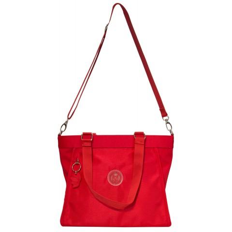 Bolsa Feminina Monica Sanches 5019 Lona 1200 Vermelho