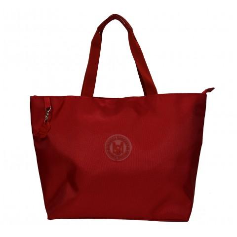 Bolsa Feminina Monica Sanches 5040 Lona 1200 Vermelho