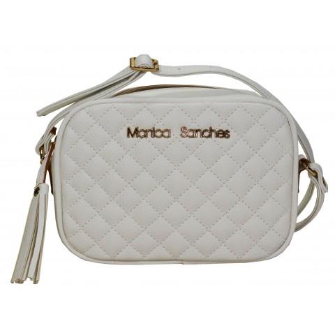 Bolsa Feminina Monica Sanches 3565 Canguru Branco