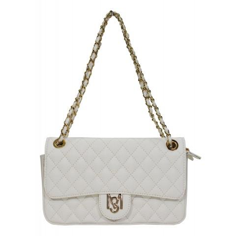 Bolsa Feminina Monica Sanches 3249 Canguru Branco