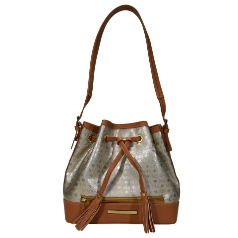 Bolsa Feminina Monica Sanches 3007 Ms Transfer Ouro Light
