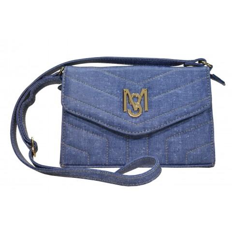 Bolsa Feminina Monica Sanches 3555 Rustic Jeans