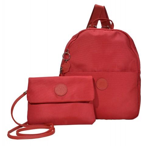 Bolsa Feminina Monica Sanches 5010 Lona 1200 Vermelho