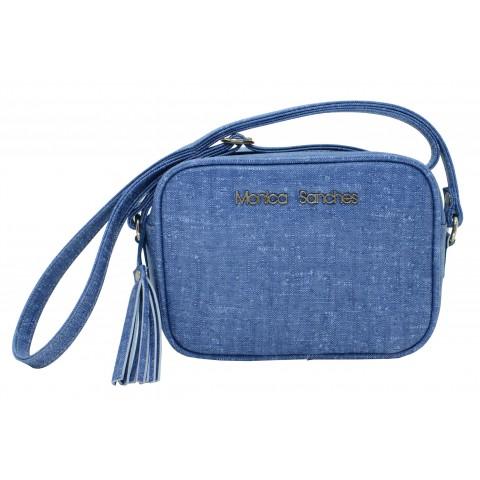 Bolsa Feminina Monica Sanches 3518 Rustic Jeans