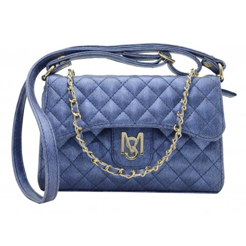Bolsa Feminina Monica Sanches 3520 Moon Azul