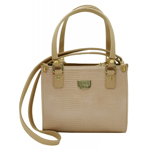 Bolsa Feminina Monica Sanches 3032 Lagarto Rose