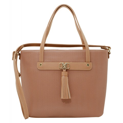 Bolsa Feminina Monica Sanches 3488 Paris Dark Blush
