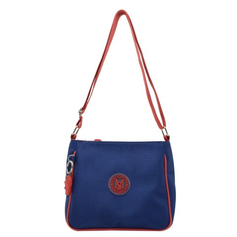 Bolsa Feminina Monica Sanches 5035 Lona 1200 Petroleo