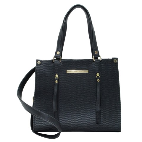Bolsa Feminina Monica Sanches 3550 Paris Preto